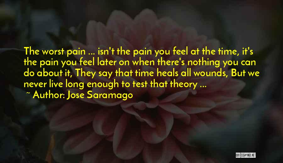 Pain Heals Quotes By Jose Saramago