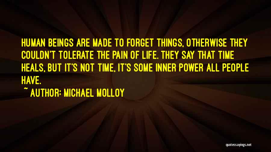 Pain Heals Quotes By Michael Molloy