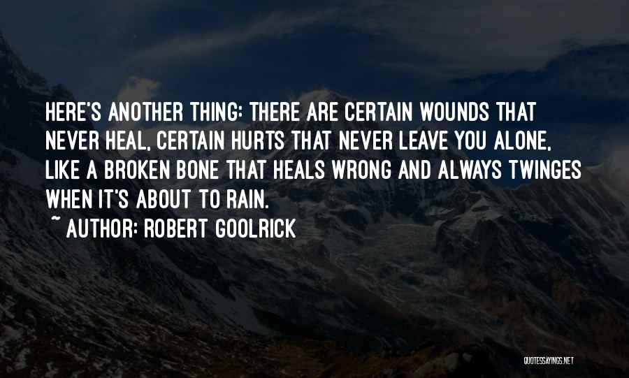 Pain Heals Quotes By Robert Goolrick