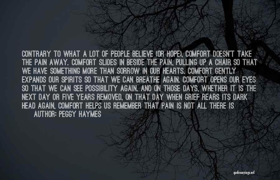 Pain In Eyes Quotes By Peggy Haymes