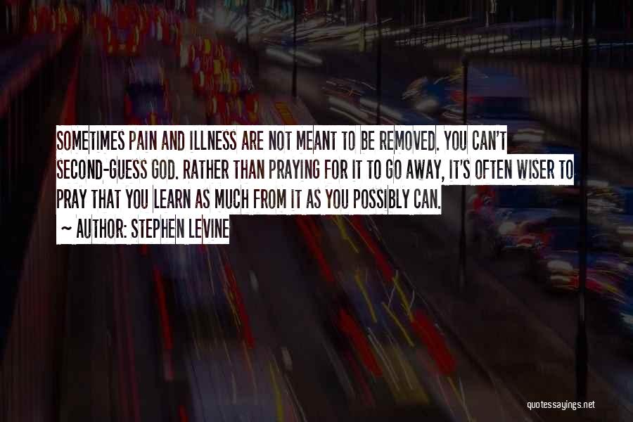 Pain Please Go Away Quotes By Stephen Levine