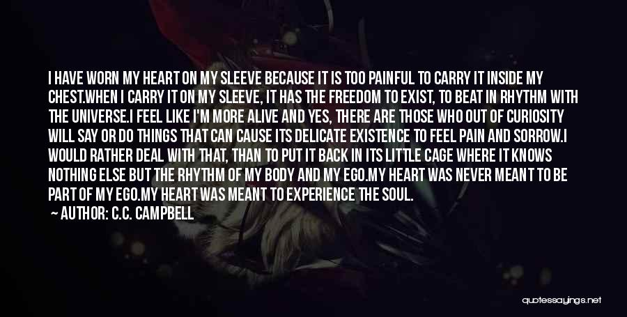 Painful Soul Quotes By C.C. Campbell