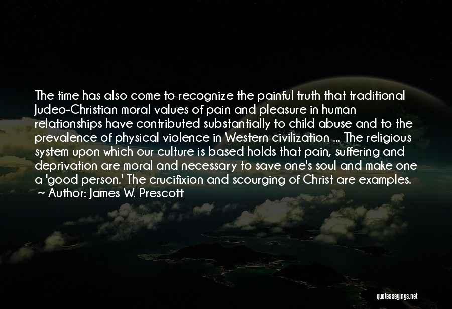 Painful Soul Quotes By James W. Prescott