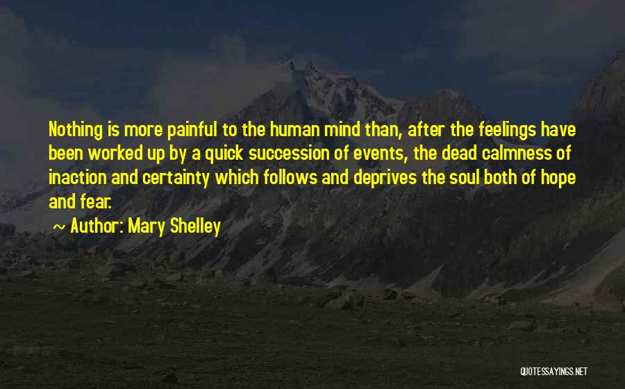 Painful Soul Quotes By Mary Shelley