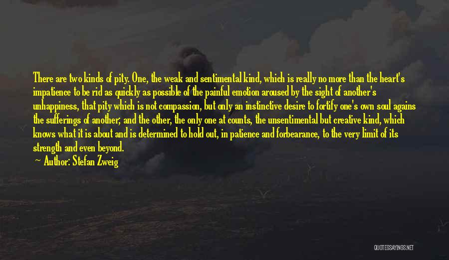 Painful Soul Quotes By Stefan Zweig