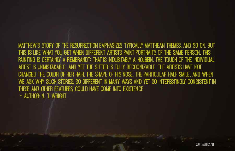 Painting Portraits Quotes By N. T. Wright
