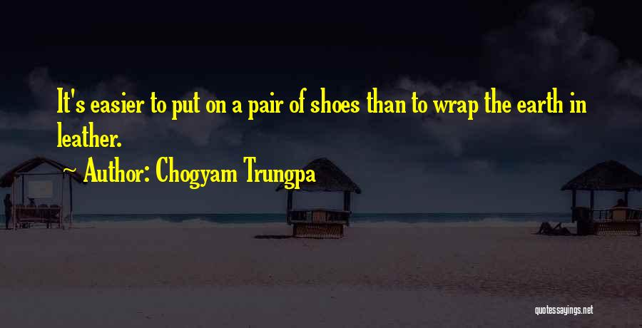 Pair Of Shoes Quotes By Chogyam Trungpa