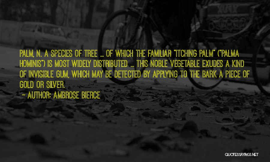 Palm Tree With Quotes By Ambrose Bierce