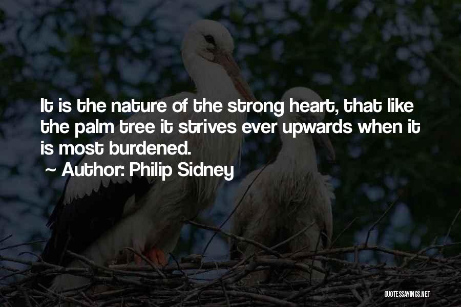 Palm Tree With Quotes By Philip Sidney