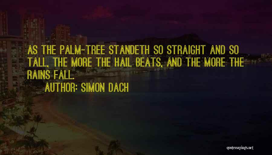 Palm Tree With Quotes By Simon Dach