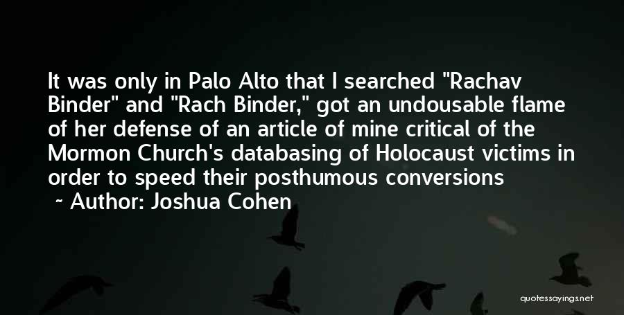 Palo Alto Best Quotes By Joshua Cohen