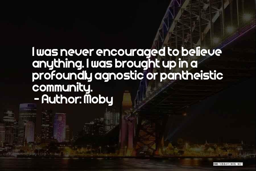 Pantheistic Quotes By Moby