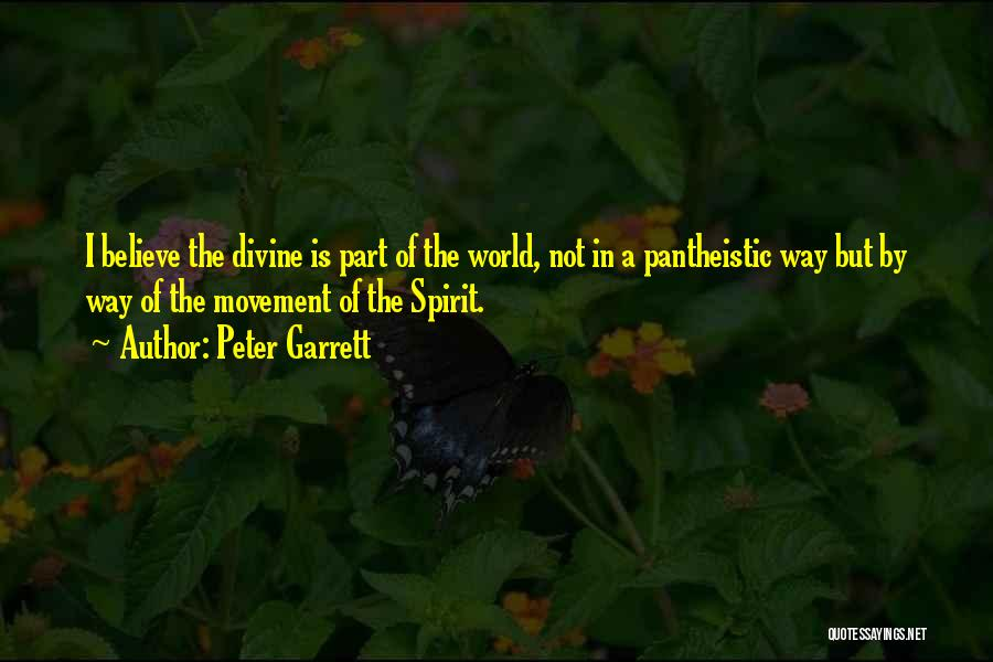 Pantheistic Quotes By Peter Garrett