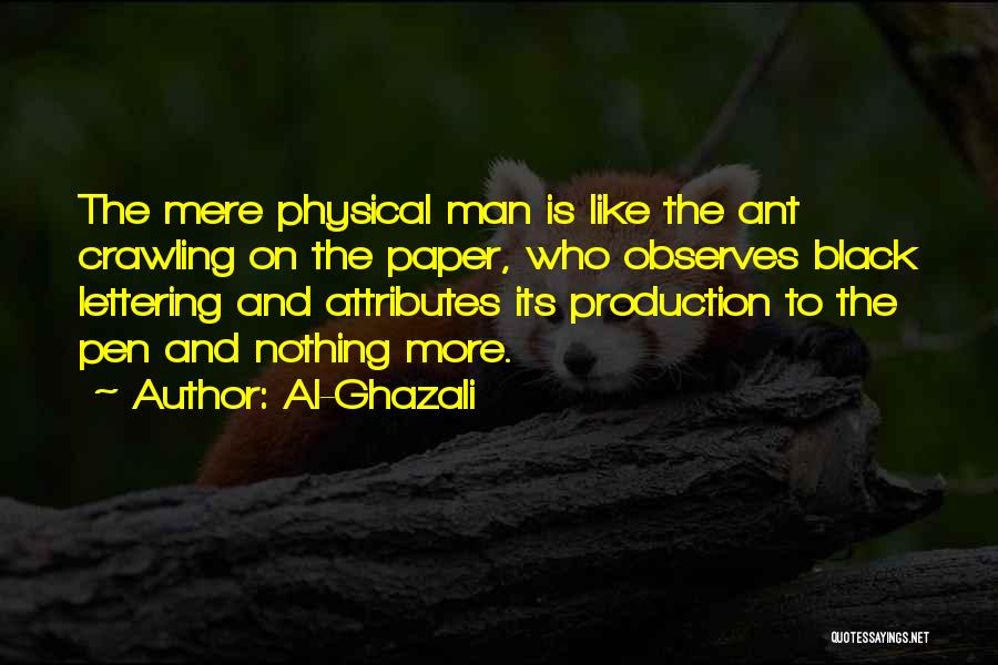 Paper And Pen Quotes By Al-Ghazali