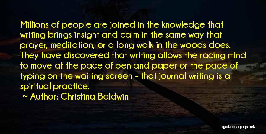 Paper And Pen Quotes By Christina Baldwin