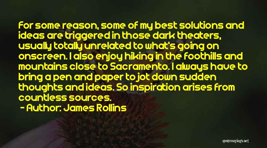 Paper And Pen Quotes By James Rollins