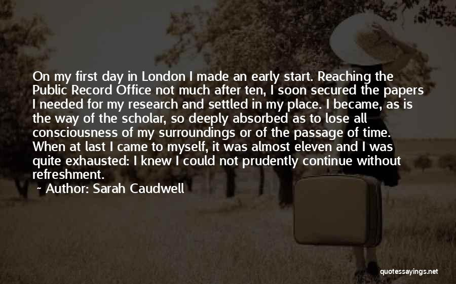Papers That Start With Quotes By Sarah Caudwell