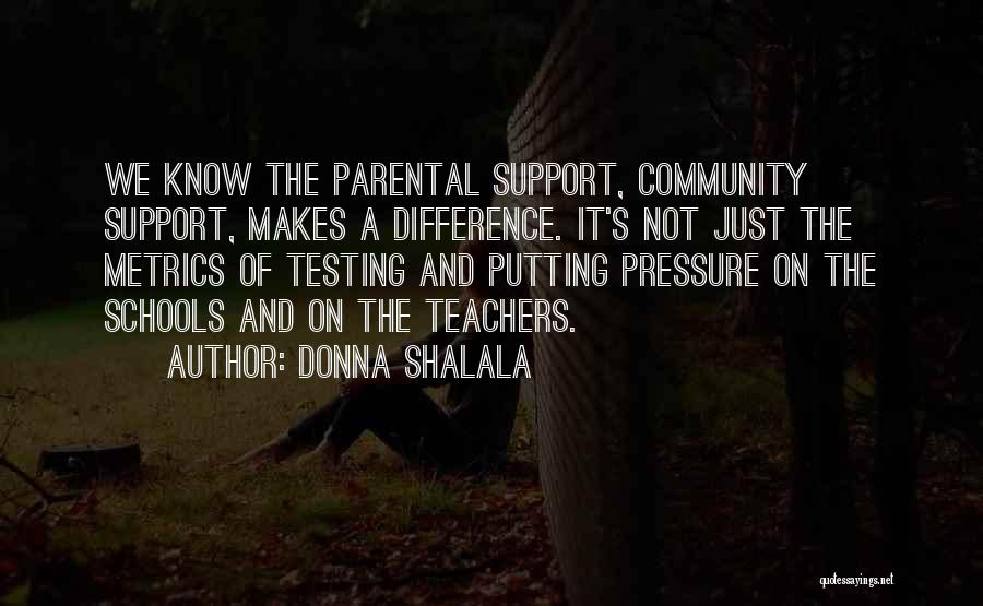 Parental Pressure Quotes By Donna Shalala