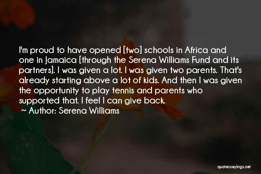 Parents As Partners Quotes By Serena Williams