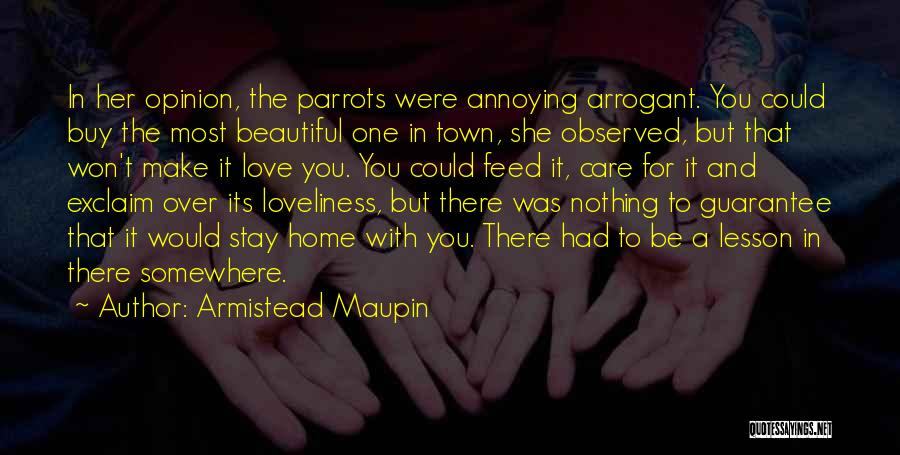 Parrots Quotes By Armistead Maupin