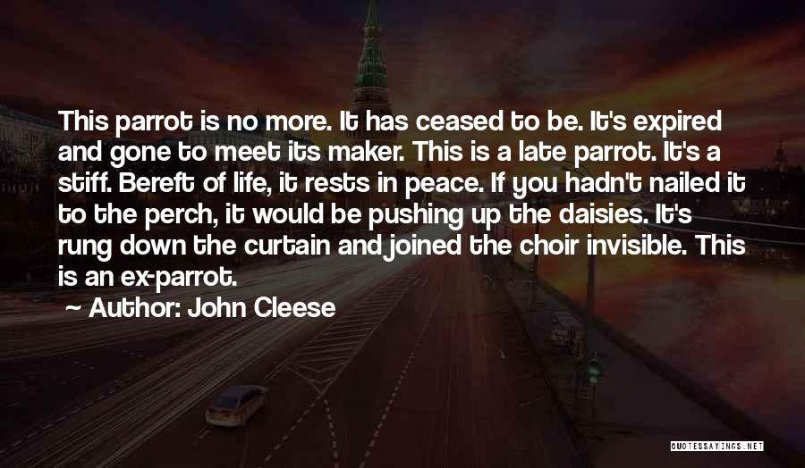 Parrots Quotes By John Cleese