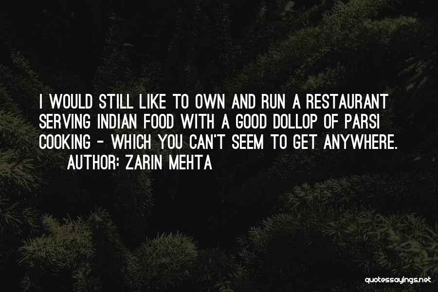 Parsi Food Quotes By Zarin Mehta