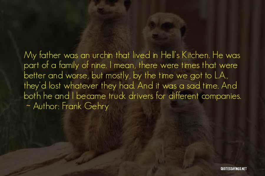 Part Time Father Quotes By Frank Gehry