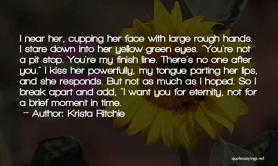 Parting With Someone Quotes By Krista Ritchie