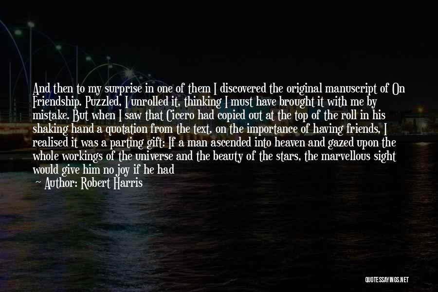 Parting With Someone Quotes By Robert Harris