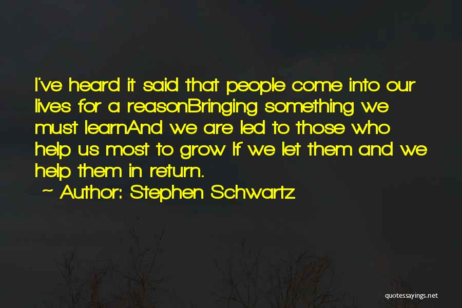 Parting With Someone Quotes By Stephen Schwartz