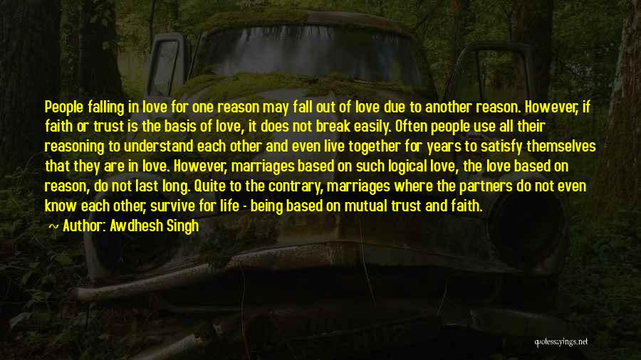 Partners Love Quotes By Awdhesh Singh