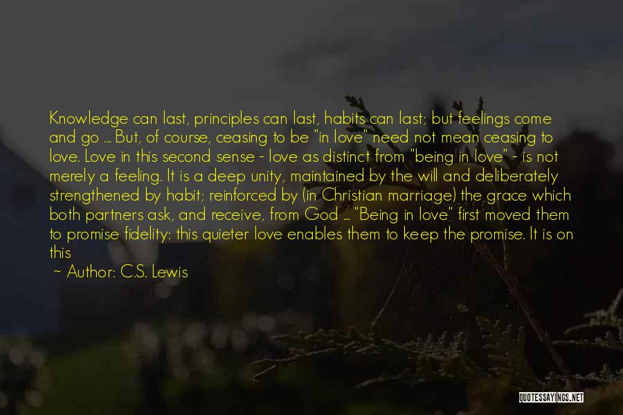 Partners Love Quotes By C.S. Lewis