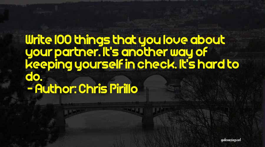 Partners Love Quotes By Chris Pirillo