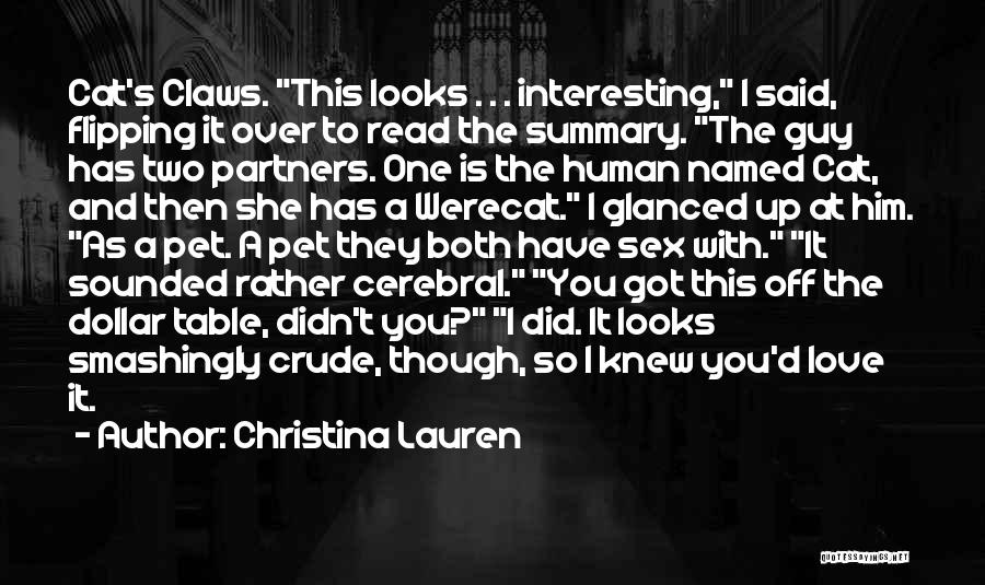 Partners Love Quotes By Christina Lauren