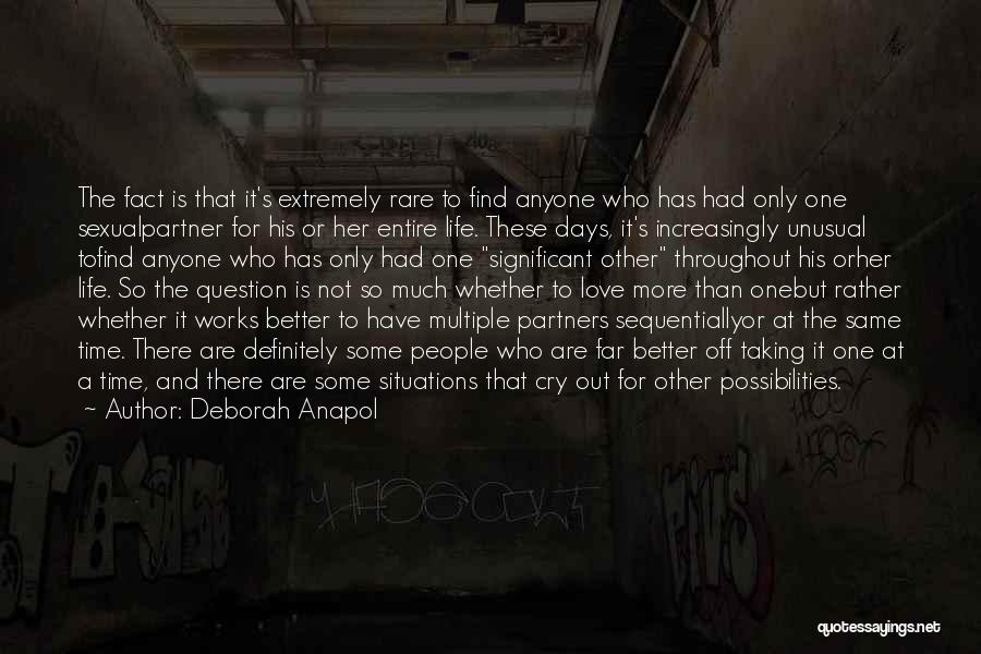 Partners Love Quotes By Deborah Anapol