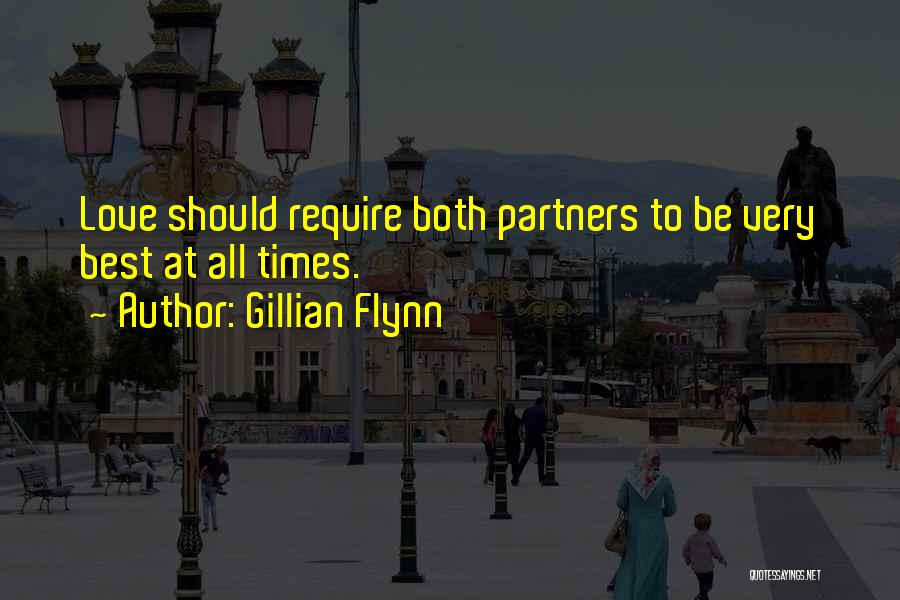 Partners Love Quotes By Gillian Flynn