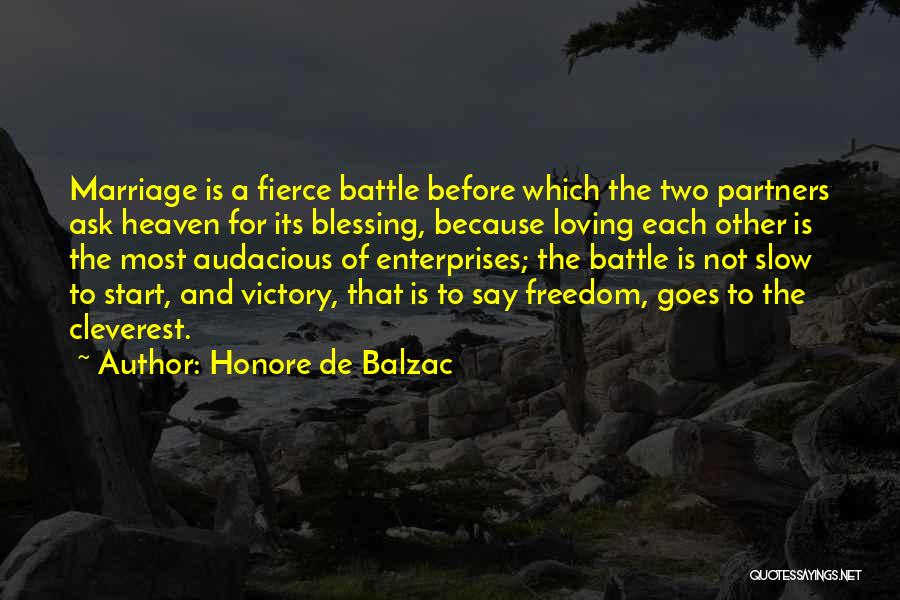 Partners Love Quotes By Honore De Balzac