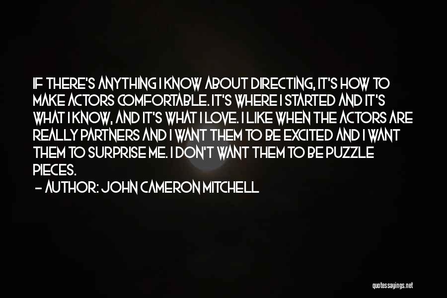 Partners Love Quotes By John Cameron Mitchell