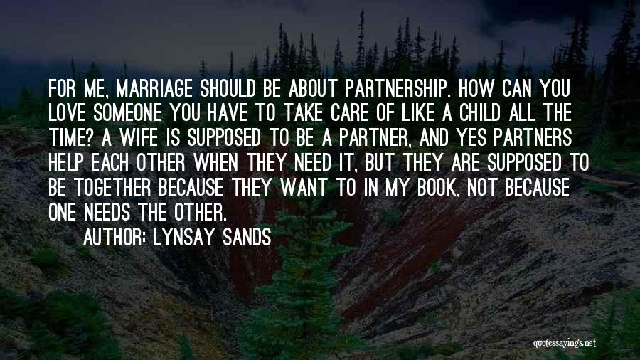 Partners Love Quotes By Lynsay Sands