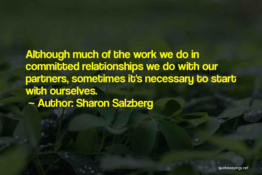 Partners Love Quotes By Sharon Salzberg