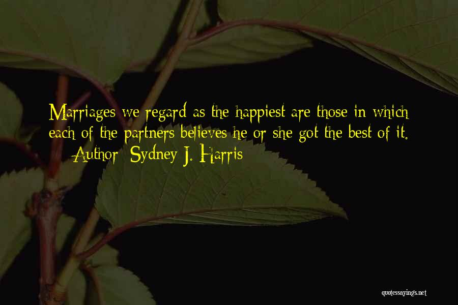 Partners Love Quotes By Sydney J. Harris