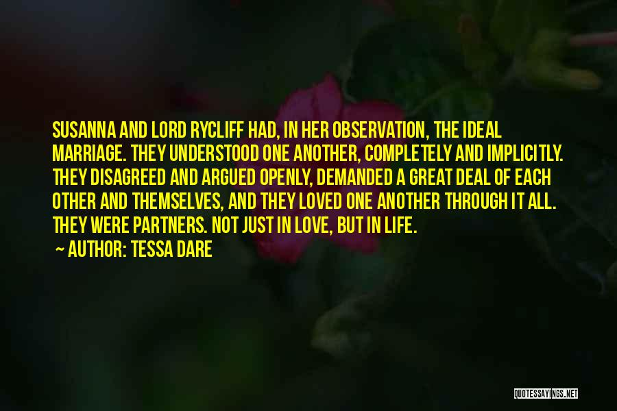 Partners Love Quotes By Tessa Dare