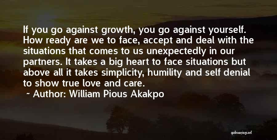 Partners Love Quotes By William Pious Akakpo