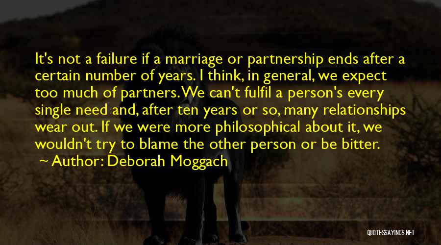 Partnership In Relationships Quotes By Deborah Moggach