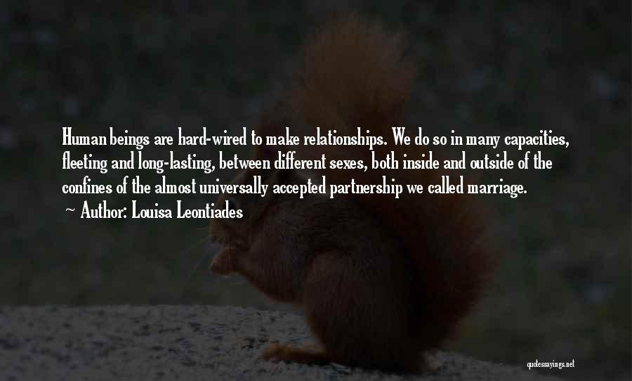 Partnership In Relationships Quotes By Louisa Leontiades