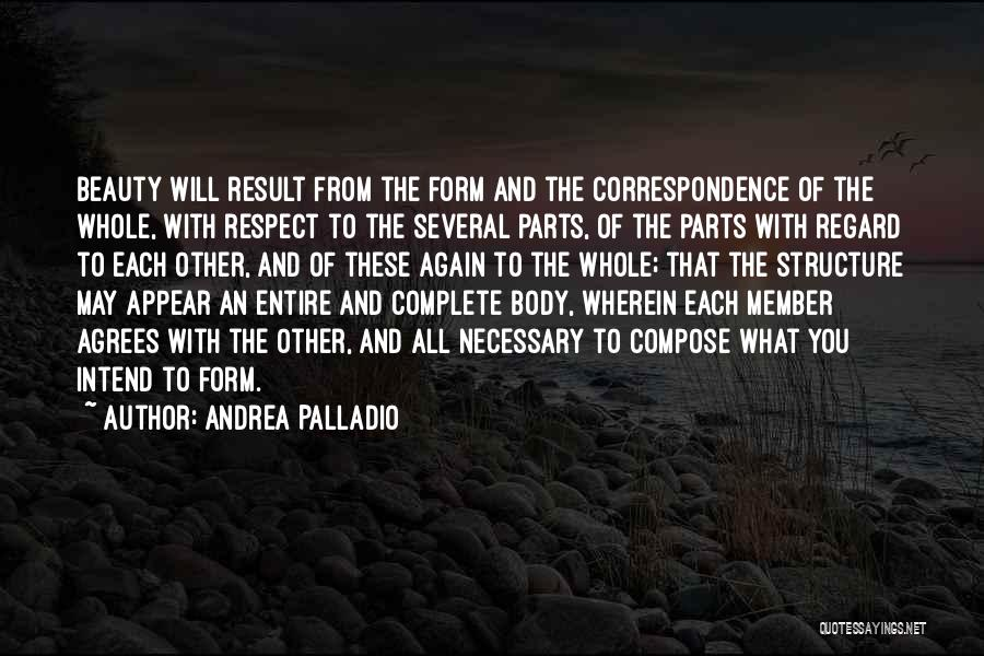 Parts Of The Body Quotes By Andrea Palladio