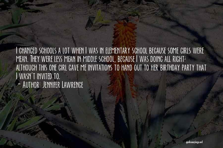 Party Girl Quotes By Jennifer Lawrence