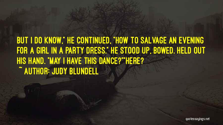 Party Girl Quotes By Judy Blundell