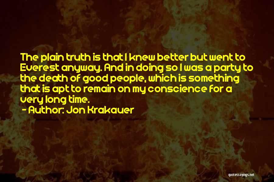 Party Good Time Quotes By Jon Krakauer