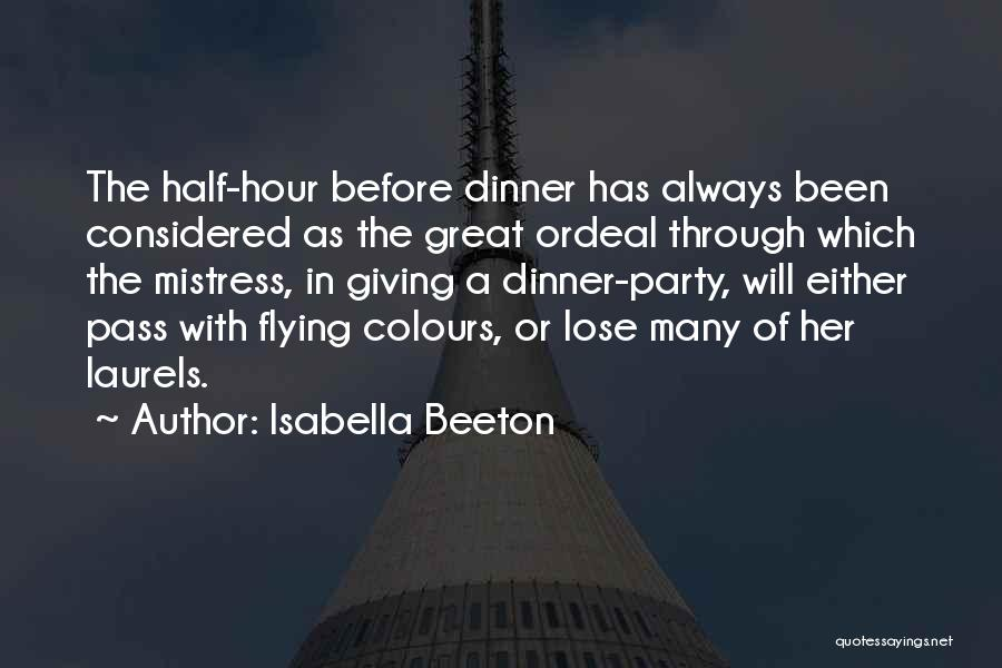 Pass With Flying Colours Quotes By Isabella Beeton